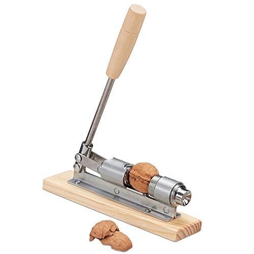 Nutcracker Metall Walnussknacker Nuss öffner Griff für Pecan Metall Haselnussknacker Nussknacker und Sektzange Retro Nussknacker aus Holz Metall Nussknacker aus Nüsse Holzgestell Griff für Haselnüsse