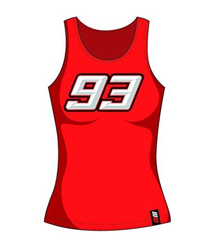 MotoGP Apparel Veste Femme Débardeur 93, Rouge, Taille XL