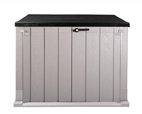 Ondis24 Mülltonnenbox Gartenbox Storer Gerätebox abschließbar für 2 Mülltonnen (842 Liter, Anthrazit - Grau)