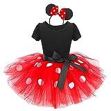 Vestidos de Princesa Fiesta Bautizo Tutú Ballet Lunares Fantasía Vestido Carnaval Disfraces para Bebés Niñas(12 Meses a 6 Años) Rojo #2 2-3 Años