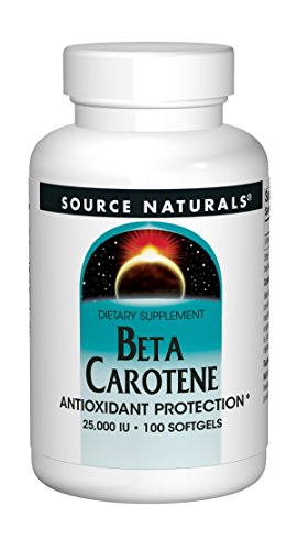 Source Naturals Beta Carotene 25000 iu Antioxidant Protection - Converted By Body To Vitamin A - 100 Softgels