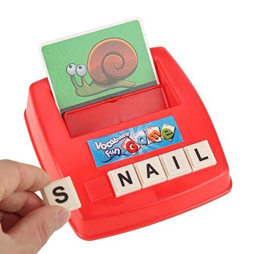 Rishx-toy Enfants Alphabet Card Lettres Alphabet Puzzle Jeu Jouets d'apprentissage Mot Photo Match Game Jouets éducatifs Cadeau for Les Enfants