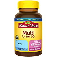 50-Count Nature Made Women's Multivitamin 50+ Softgels