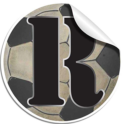 Sports Themed Decal Letters Boys Name Lettering Peel Stick Removable Stickers Wall Decor Baby's Nursery Kids Bedroom Child Room Playroom Home Initial Vinyl Custom Alphabet Girls (Letter R Soccer Ball)