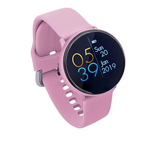 Sami - Dynamic - Smartwatch, Smartband, Pulsera de Actividad Deportiva. Color Rosa. Compatible Android y Apple. Cámara, GPS, presión sanguínea, Fuerza G, Multideportivo. Iconos 3D dinámicos