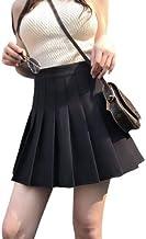 SCANWORLD Women's High Cotton Waist Flared Knit Skart Short