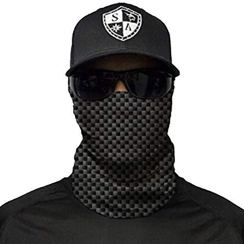 S A - 1 UV Face Shield - Carbon Fiber - Multipurpose Neck Gaiter, Balaclava, Elastic Face Mask for Men and Women