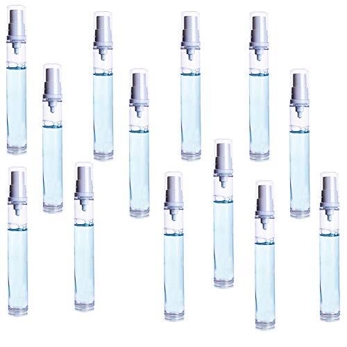 Frasco pulverizador de 2 ml, de plástico transparente, recargable y portátil, ideal para ir de viaje, para perfumes y cosméticos, 30 unidades