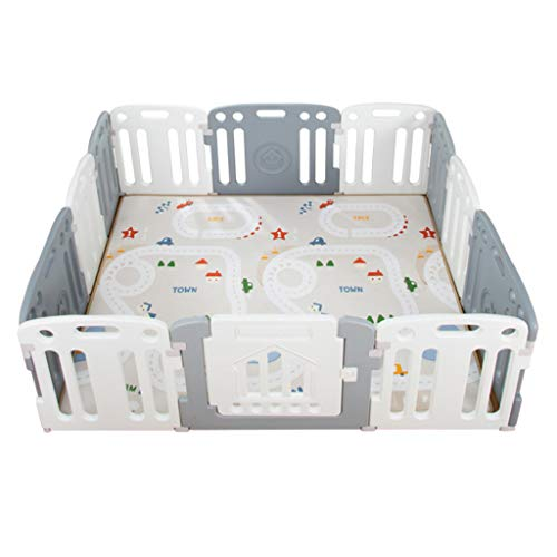 Great Features Of YF-Baby Playards Large Play Yard with Gate for Babies Infant Toddlers - Portable I...