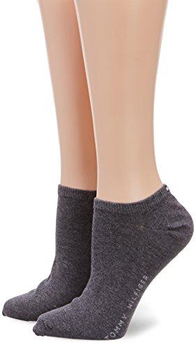 Tommy Hilfiger Frauen Sneaker Trainer Socken, Middle Grey Melange, 35/38 (2er Pack)