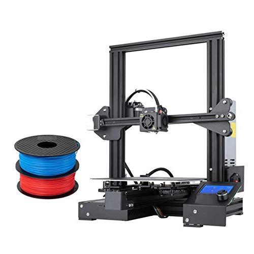 3D Printer Ender-3 PRO Printer DIY KIT Print Mask Glass Option 3D Drucker Impresora Printer Kit shipping from UK (Color : Pro Add 2KG PLA)