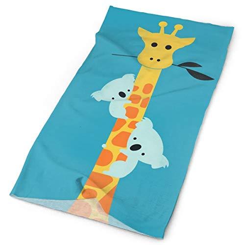 Kids Scarf Girl With Rabbit On A Giraffe Neckerchief Winter Warm Bandelet For Boys