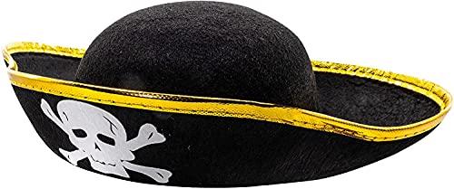 2 sombreros de pirata, uno para adultos y nios, fiesta temtica de disfraces, decoracin pirata