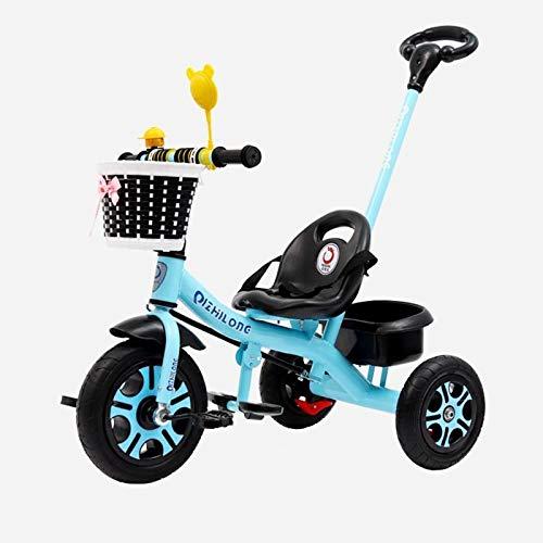 QBLDX Triciclo con Asa - Bicicletas Eléctricas para Niños,Dos Modos de Conducción Diferentes,Un Cochecito Adecuado para Bebés de 1 a 6 años