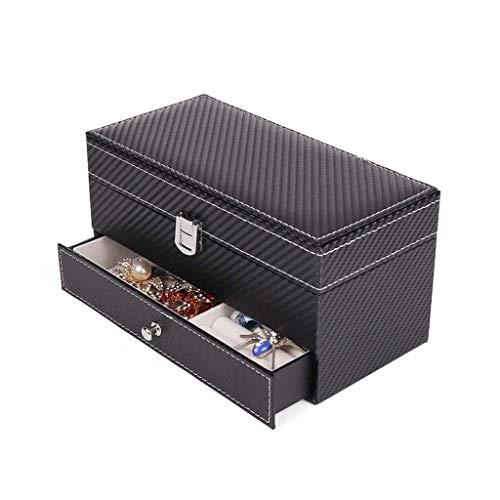 Uhrenbox Beobachten und Cufflink Vitrine mit Schublade, 2-in-1-Uhr und Cufflink Manager/Speicher Box