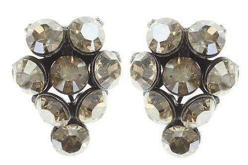 KONPLOTT Magic Fireball Ohrstecker für Damen | Exklusive Designer-Ohrringe mit 16 Swarovski Steinen | Glamouröser Ohrschmuck passend zu jedem Anlass | Handgefertigter Damen-Schmuck | Beige
