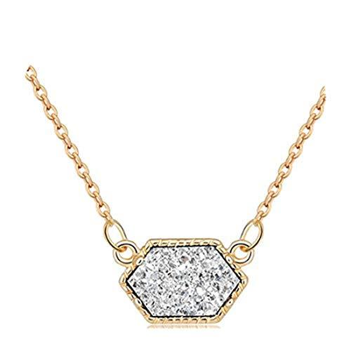 yichahu Collar para mujer, regalos simples, collar con colgante de cristal