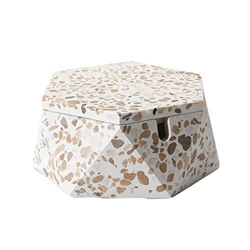 ZANZAN Cenicero con cenicero con cenicero a Prueba de Viento a Prueba de Viento con Forro de Acero Inoxidable para la Oficina en el hogar, Uso Exterior para Exteriores -2colors (Color : White)