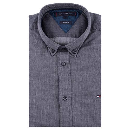 Tommy Hilfiger Herren Hemd Regular Fit Langarm anthrazit (14) XL
