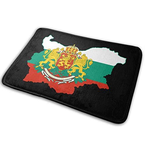 tyutrir Bulgarische Emblem-Karten-Eingangs-rutschfeste Tür-Matte für Garagen-Patio-hohe Verkehrsflächen-Schuh-Wolldecken-Teppich -7686