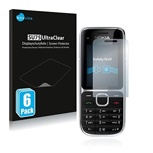 savvies 6-Pezzi Pellicola Protettiva Compatibile con Nokia C2-01 Protezione Schermo Trasparente
