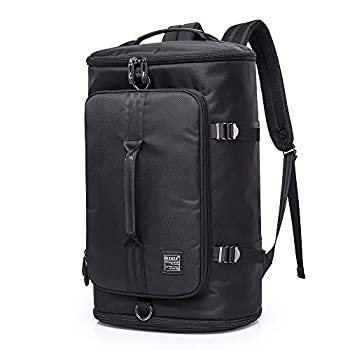 KAKA Travel Duffel Backpack Outdoor Travel Bag with Shoe Compartment Laptop Bookbag Weekender Overnight Carry On Daypack Water-Resistant College Bookbag Camping Rucksack Luggage for Men and Women…