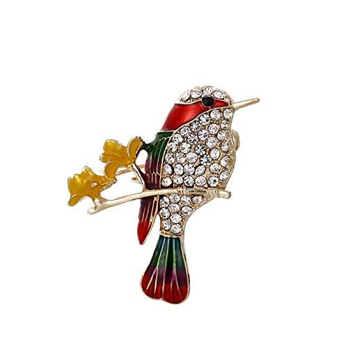 HKJZ Prima de Crystal Encantador Swallow Animal del Ramillete de complementos del Vestir en Color Goteo de Aceite de Aves Loro Accesorios Broche de Traje Bird Broche Animal Insignia Pin de Solapa