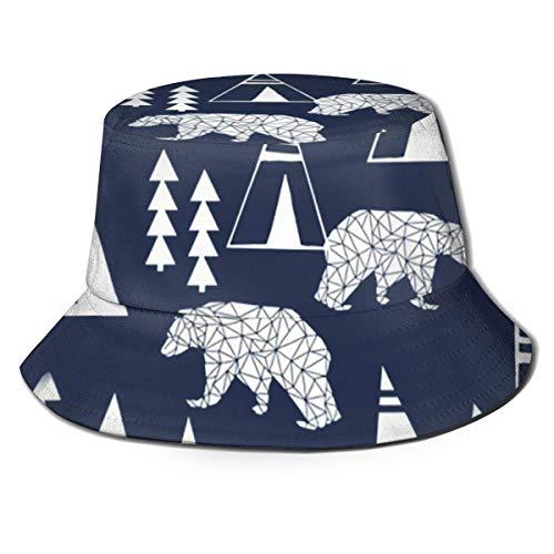 Dale Hill Berretti Navy Teepee Cappello da Pescatore della Foresta Berretto da Pesca Berretto Parasole Visiera