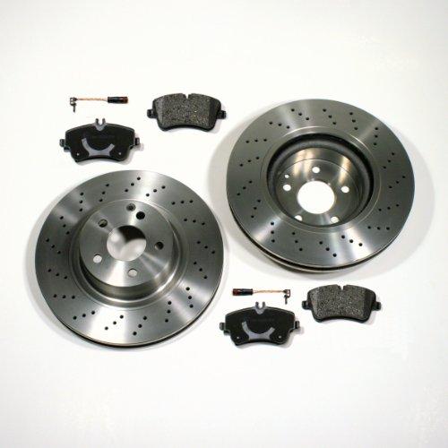 Bremsscheiben/Bremsen + Beläge + Sensoren für vorne/die Vorderachse