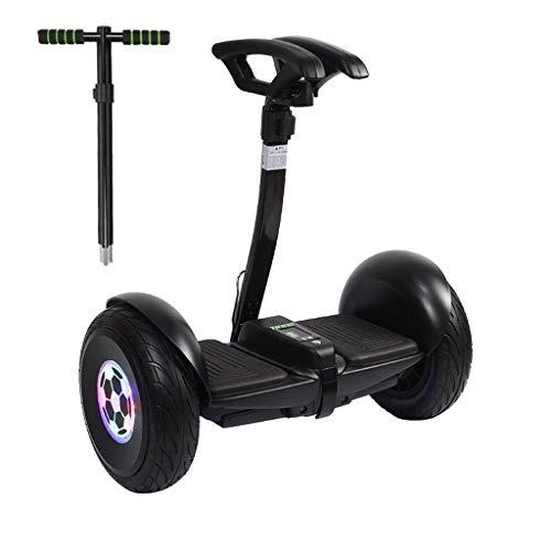 Smart Auto-Equilibrio de Scooter eléctrico con iluminación Inteligente y Sistema de baterías, de 10 Pulgadas autobalanceo Hoverboards, Control Remoto y automático Siguiendo Modo, Negro ZDWN