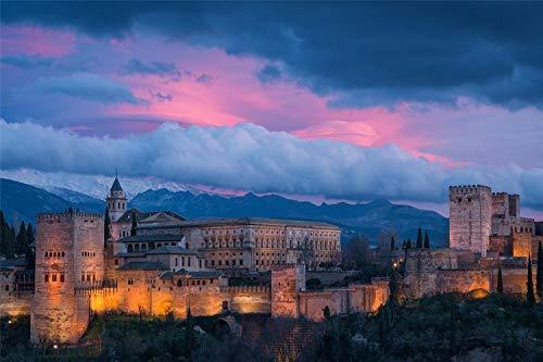 KCHUEAN 1000 Piezas Rompecabezas Decoracion De Muebles Alhambra España De Madera Montaje Personalizado