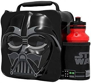 Starwars Kids Children 3D Lunch Box Bag With Sport Water Bottle (Darth Vader)