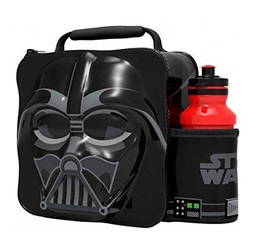 DARTH VADER Kids Children 3D Lunch Box Bag With Sport Water Bottle