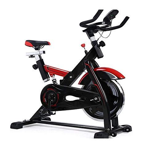 UIZSDIUZ Ciclismo Indoor Bicicleta estacionaria con Monitor de Ritmo cardíaco y Pantalla LCD, cómodo cojín del Asiento, Volante Pesada versión Mejorada, Multi - puños del Manillar