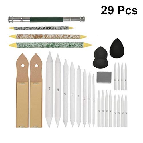 Artibetter 29 Stks Tekening Schetsen Potloden Set Schuurpapier Spons Doekjes Puntenslijper Voor Kunstenaars Beginners Tekening Shading Kleuren (Kleurrijk)