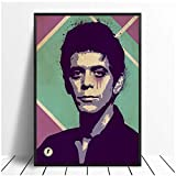 Lou Reed Velvet Underground Music Poster Hip Hop Rap Music Band Star Poster Wall Art Painting Room Home Decor Canvas Print-60x90cm No Frame