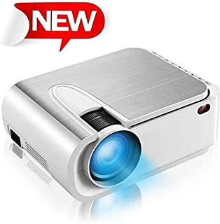 """XINDA Projector, XINDA Mini Projector with 4600 Lumen,220"""" Display Video Projector.Home Theater Projector 1080P Supported,Compatible with Fire TV Stick,Smartphone,PS4,HDMI,TF,VGA,AV USB"""