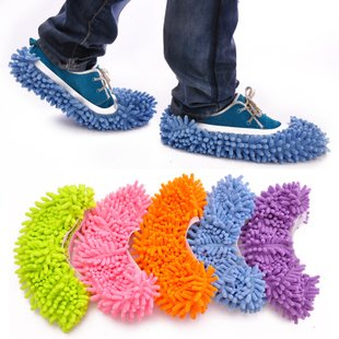 『歩くだけで 簡単 お掃除 モップスリッパ マイクロファイバー』