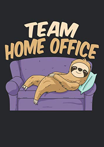 Notizbuch A4 kariert mit Softcover Design: Team Home Office Büro Homeoffice Spruch Büro Witz Faultier: 120 karierte DIN A4 Seiten