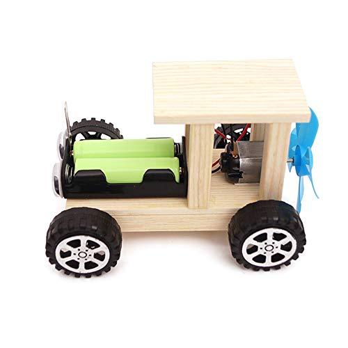 dontdo Tecnología Pequeña Producción Off-road Vehículo Viento DIY Asamblea Hecho a mano Pequeño Coche Experimento Científico Niños Juguete Educativo 1 #