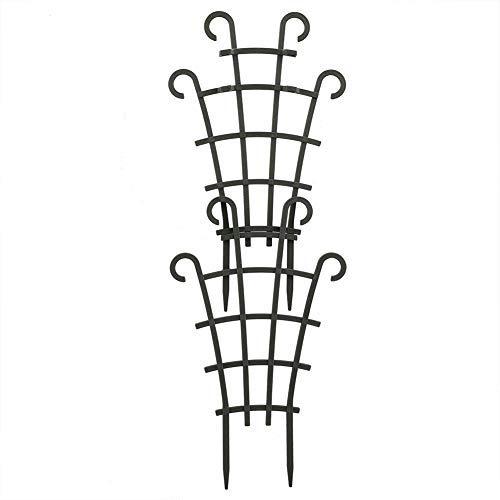 HAOT 6 Pezzi Piccolo Traliccio rampicante per Piante da Giardino per Piante rampicanti in Vaso per Interni all'aperto Supporti per Fiori in plastica sovrapposti per Piante rampicanti in Vaso Fai