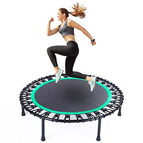 BYT 40' Mini Trampoline, Fitness Trampoline, Stable & Quiet Exercise Rebounder for Kids Adults Indoor/Garden Workout, Max.Load 330lbs.