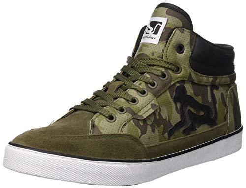 DrunknMunky Boston Mid Combat, Sneaker a Collo Alto Uomo, Verde (Military Green Black 040), 41 EU