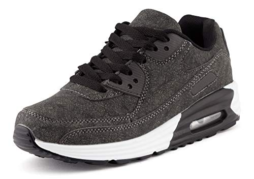 Fusskleidung Unisex Damen Herren Sportschuhe Übergrößen Laufschuhe Turnschuhe Neon Sneaker Schuhe EU Schwarz Weiß 36