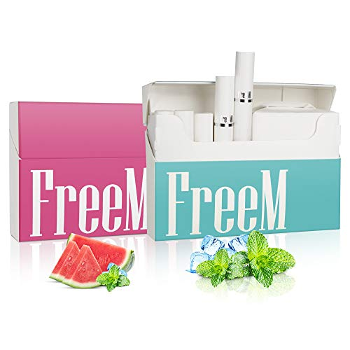 FREEM 加熱式タバコ スティック アイコス互換機対応可 ニコゼロ 茶葉使用 禁煙サポート ミント&スイカ 2箱×20本