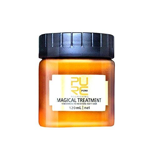 About1988 Magical Hair Treatment Mask Reparaturen Wiederherstellen Weiches Haar Keratin Haarpflege & Kopfhaut Tiefenwirksame Glättung und Reparatur der Haare (120ML)