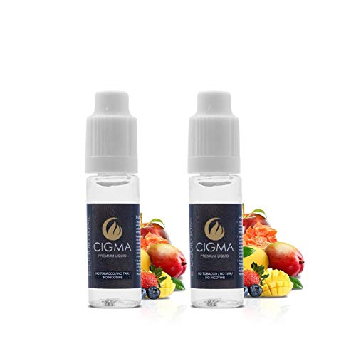 CIGMA 2X 10ml E-Flüssigkeit, Tutti Frutti, Neue Premiumqualitätsformel mit nur wertvollen Inhaltsstoffen 2er-Packung, Für elektronische Zigaretten und Wasserpfeifen gemacht
