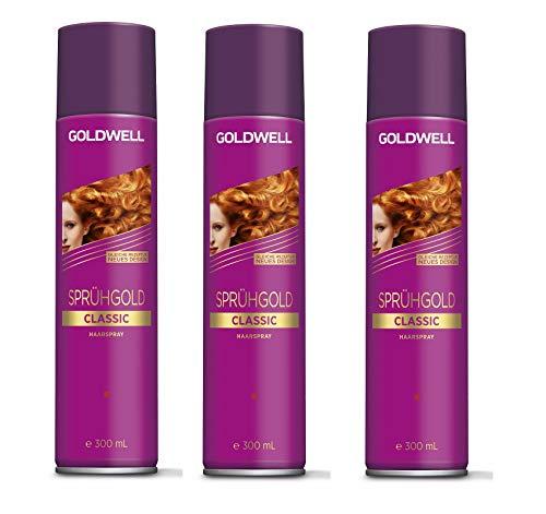 Goldwell Sprühgold Aerosole Classic 3 x 300 ml Haarspray