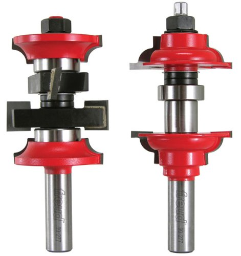 Freud 99-277 2 Piece Entry Door Router Bit System 2 & 2-1/4 Doors, Roundover Style, 1/2 Shank With TiCo Hi-Density Carbide by Freud