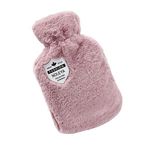 T-C son portadoras, Mini botellas de agua caliente con tapa, bolsa de agua caliente felpa del conejo anti-escaldar Estudiante caliente portátil de mano caliente for espalda, cuello, cintura, piernas,